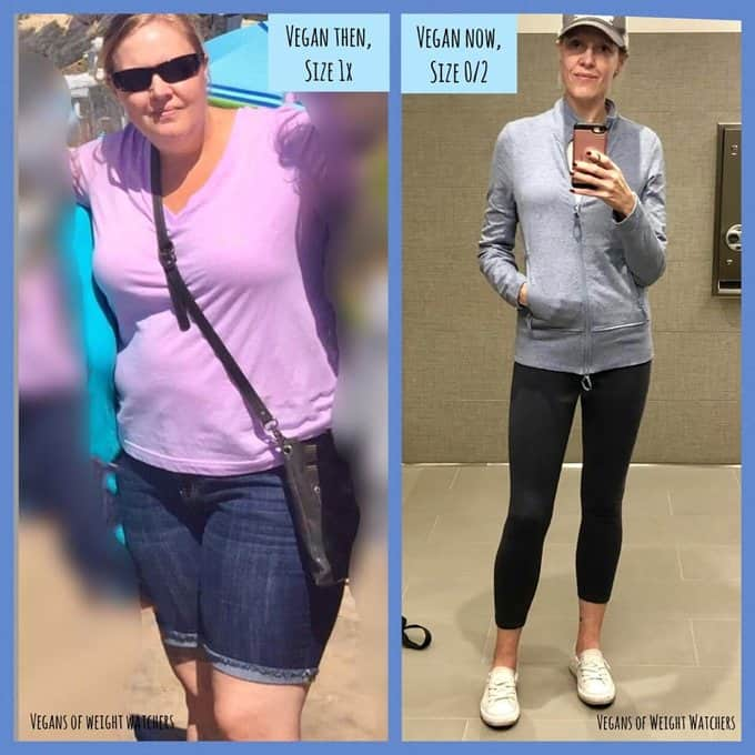 Lori Manby - Vegans of Weight Watchers before after photos