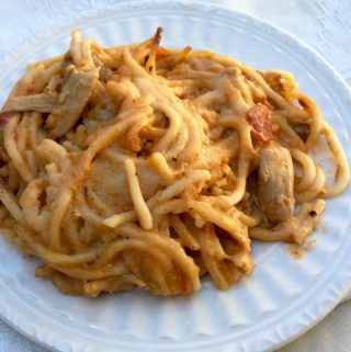 Weight Watchers Family Meals: Pioneer Woman Chicken Spaghetti Made Lighter