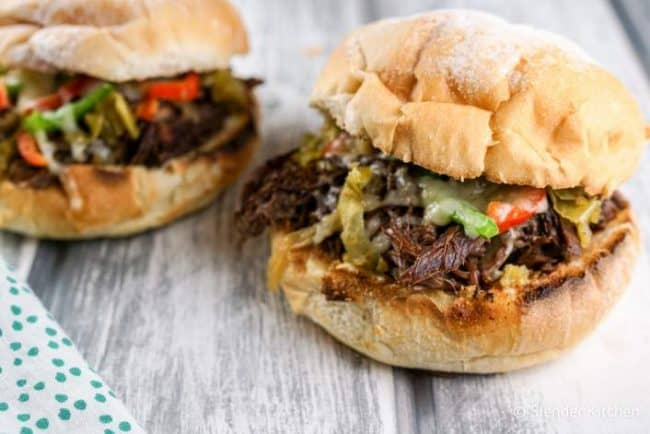 weight watchers instant pot beef drip sandwiches