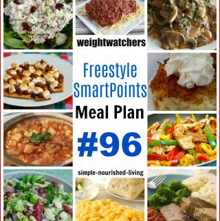 WW Freestyle SmartPoints Dinner Meal Plan