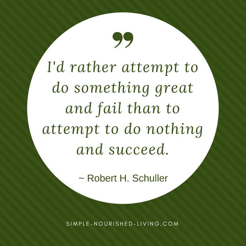 I'd rather attempt to do something great and fail than to attempt to do nothing and succeed. By Robert H. Schuller