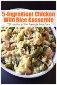 easy 5 ingredient wild rice casserole pin