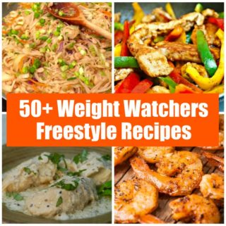 50 Weight Watchers Freestyle Recipes Photo Collage with Text
