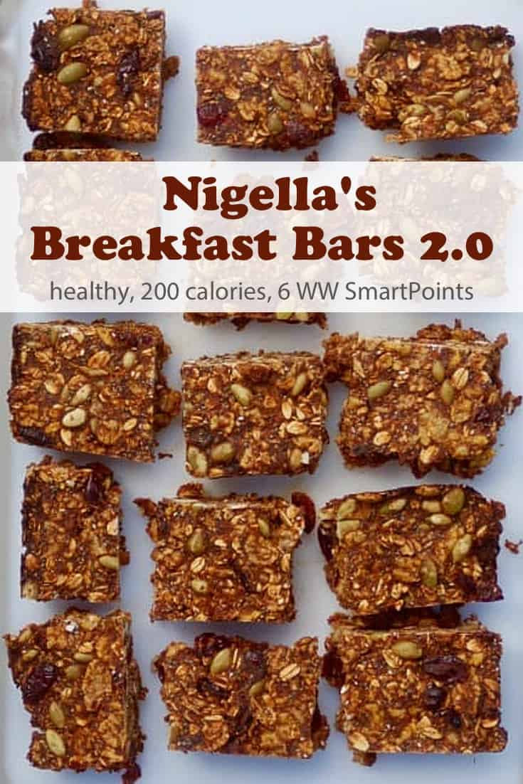Nigella Lawson's breakfast bars 2.0 recipe (from Simply Nigella), which she describes as,