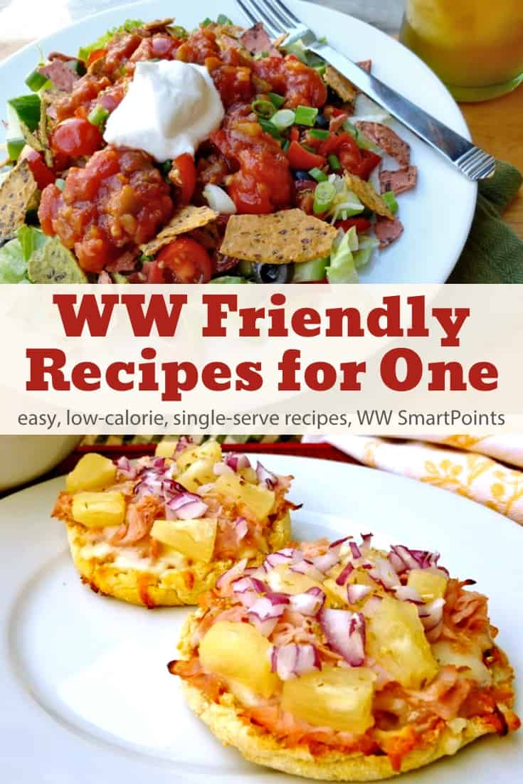 Favorite easy, low-calories WW friendly recipes with Freestyle SmartPoints and cooking tips for one. #simplenourishedliving #weightwatchers #ww #wwfamily #smartpoints #wwfreestyle #wwsmartpoints #easyhealthyrecipes #wwsisterhood