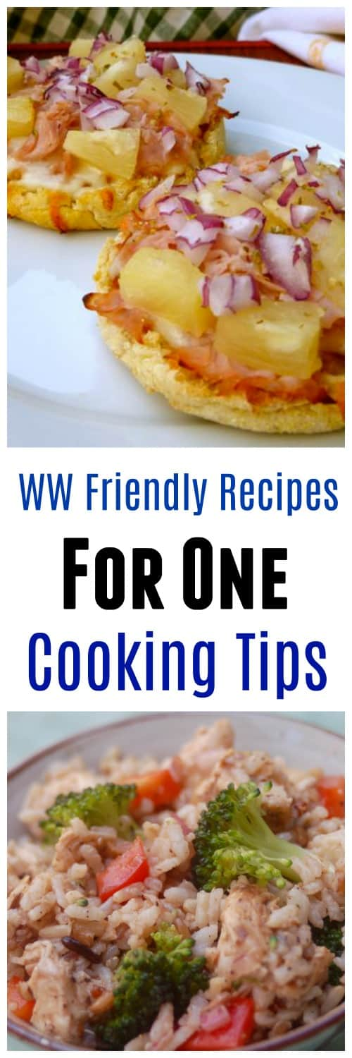 WW friendly recipes with freestyle smart points and cooking tips for one.