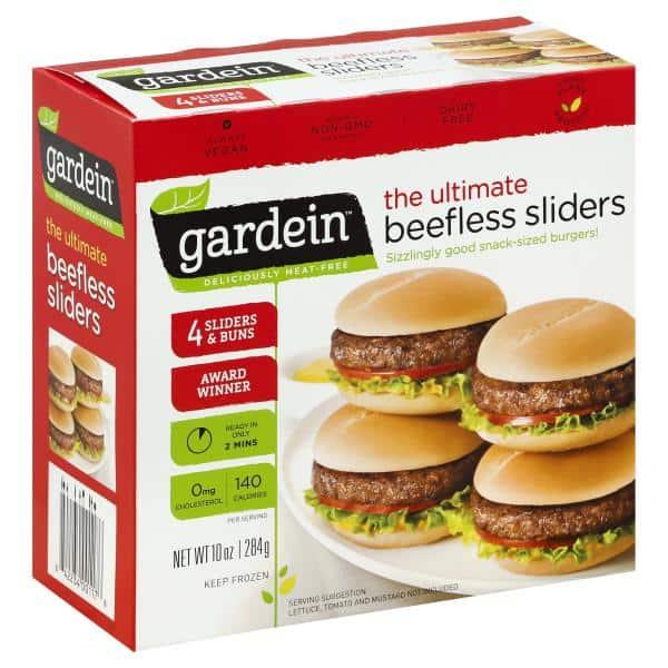 box of gardein beefless sliders
