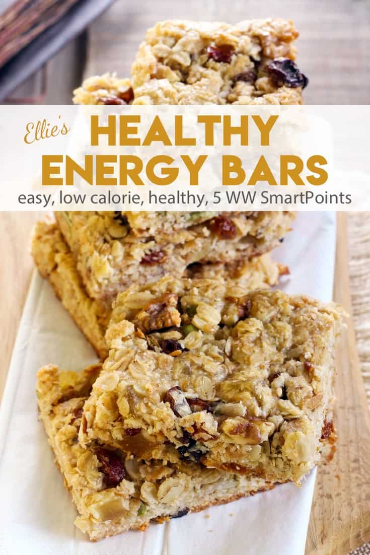 Ellie Krieger's Healthy Low-Fat, Low-Calorie Energy Bars with oats, nuts, dried fruit & seeds - about 133 calories, 5 Weight Watchers Freestyle SmartPoints! #simplenourishedliving #weightwatchers #ww #wwfamily #wwsisterhood #wwcommunity #wwsupport #easyhealthyrecipes #smartpoints #wwsmartpoints #wwfreestyle #beyondthescale #becauseitworks