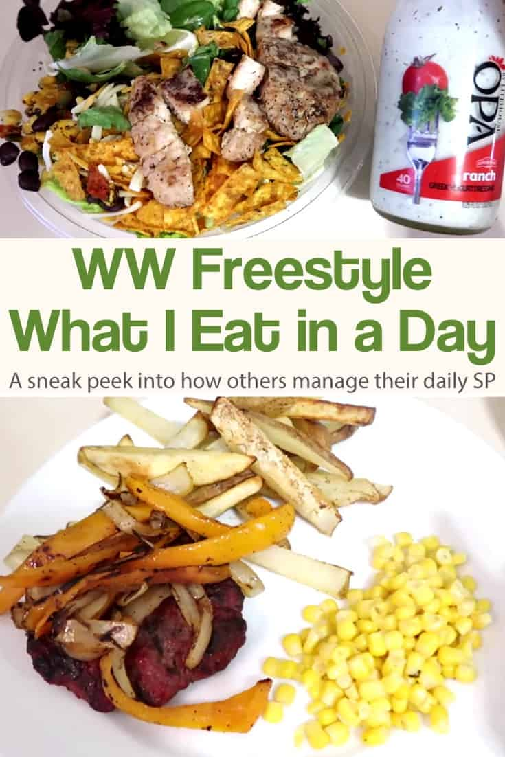 Are you curious about what people eat in a day on Weight Watchers Freestyle Program? If you do you will love this collection of videos where ordinary people give you a peak into what they eat for breakfast, lunch, dinner and snacks on WW Freestyle! #simplenourishedliving #weightwatchers #ww #wwfamily #wwsupport #wwcommunity #smartpoints #wwfreestyle #wwsmartpoints #beyondthescale #becauseitworks
