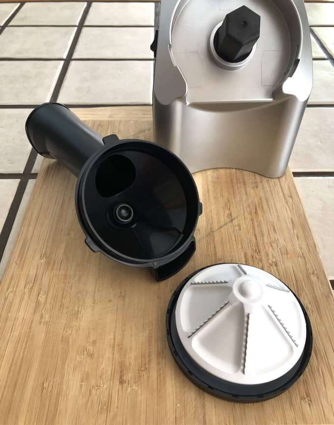 Bottom Screw Cap Removed from Yonanas Fruit Chute
