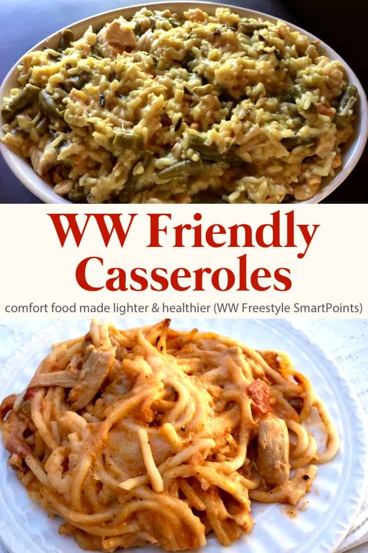 A favorite collection of Weight Watchers Friendly Casseroles - your favorite comfort foods made lighter and healthier - with WW Freestyle SmartPoints! #wwfreestylecasseroles #casseroles