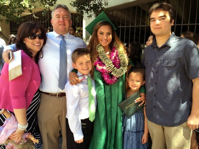 Christine and family at graduation