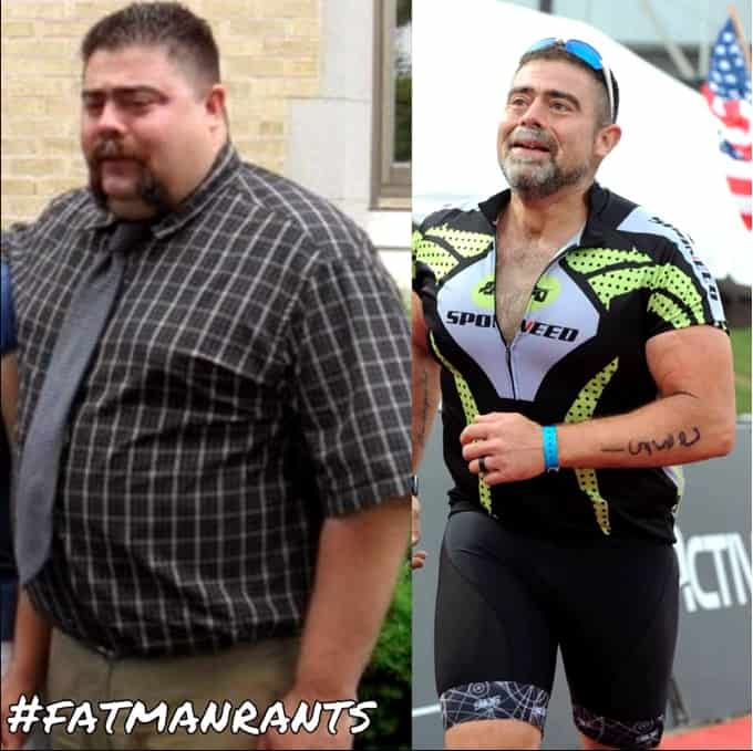 Tim K from Fat Man Rants before and after weight loss journey