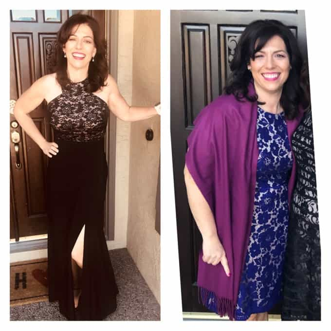 Christine before and after weight loss success