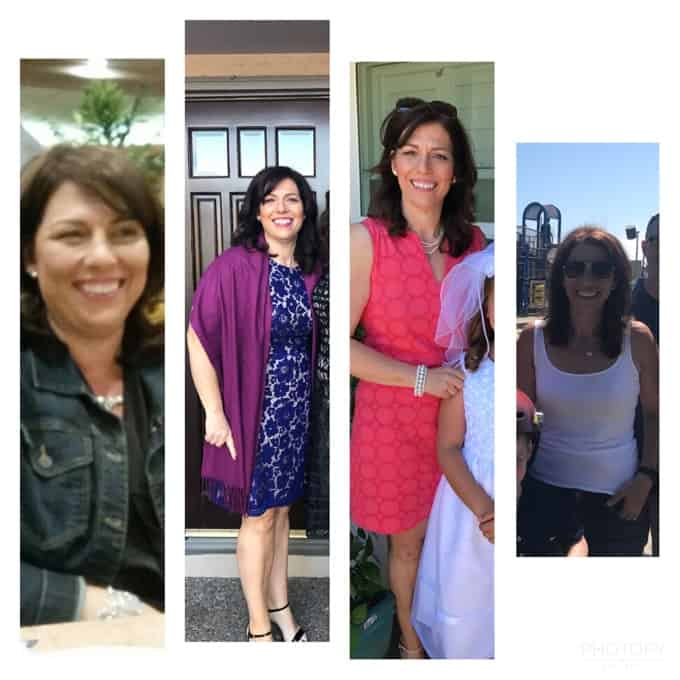 Christine before and after weight loss