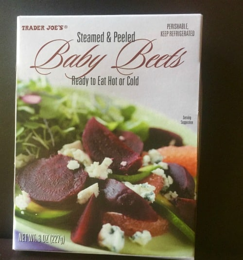 Precooked steamed baby beets from Trader Joe's