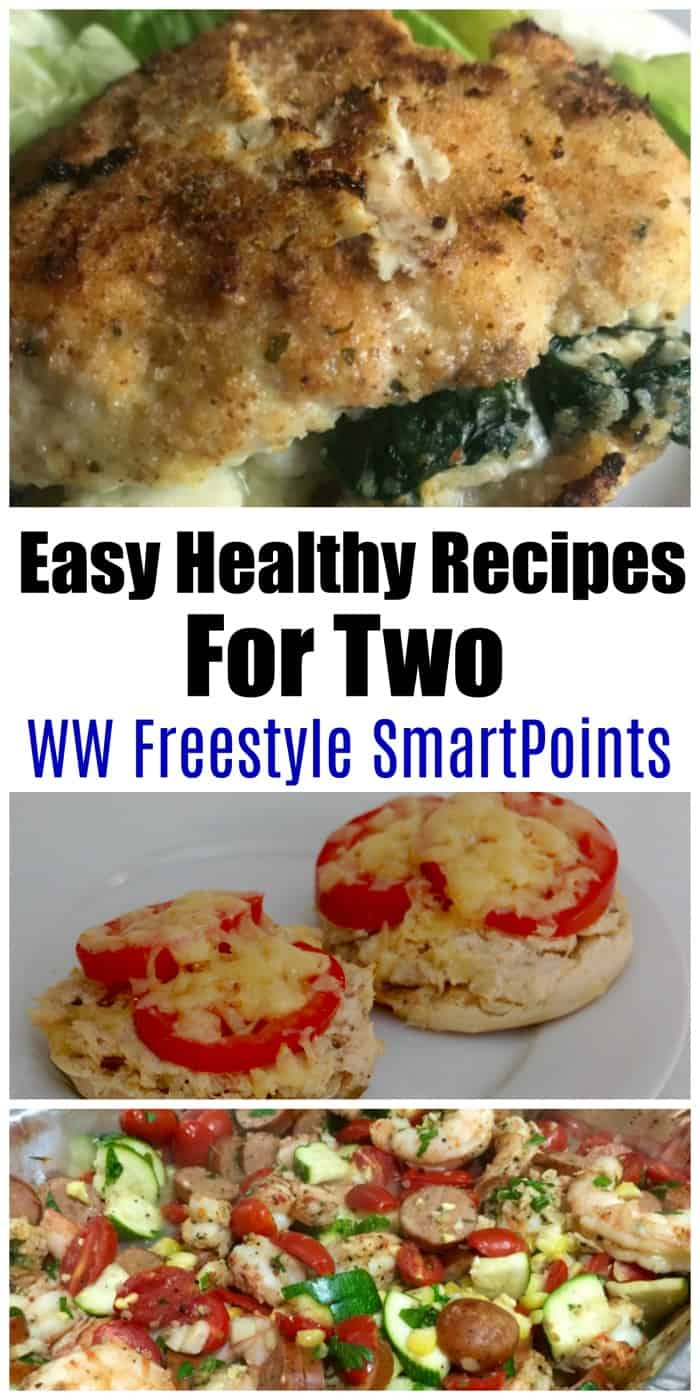 Easy Healthy Weight Watchers Recipes with Two Servings for Breakfast, Lunch, Dinner, Snacks with WW Freestyle SmartPoints! #wwrecipesfor2 #recipesfortwo #weightwatchers #ww #wwfamily #wwsmartpoints #wwsisterhood