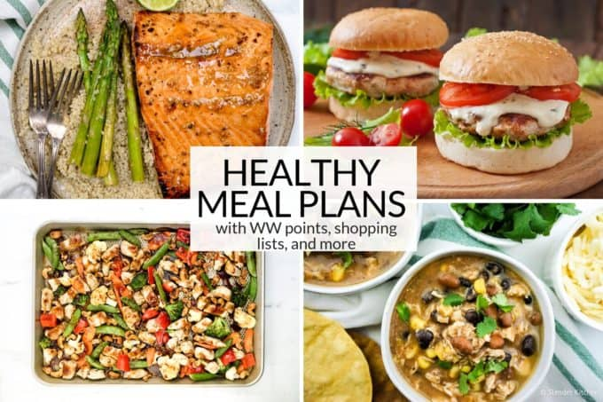 Healthy Meal Plans Square Collage Text