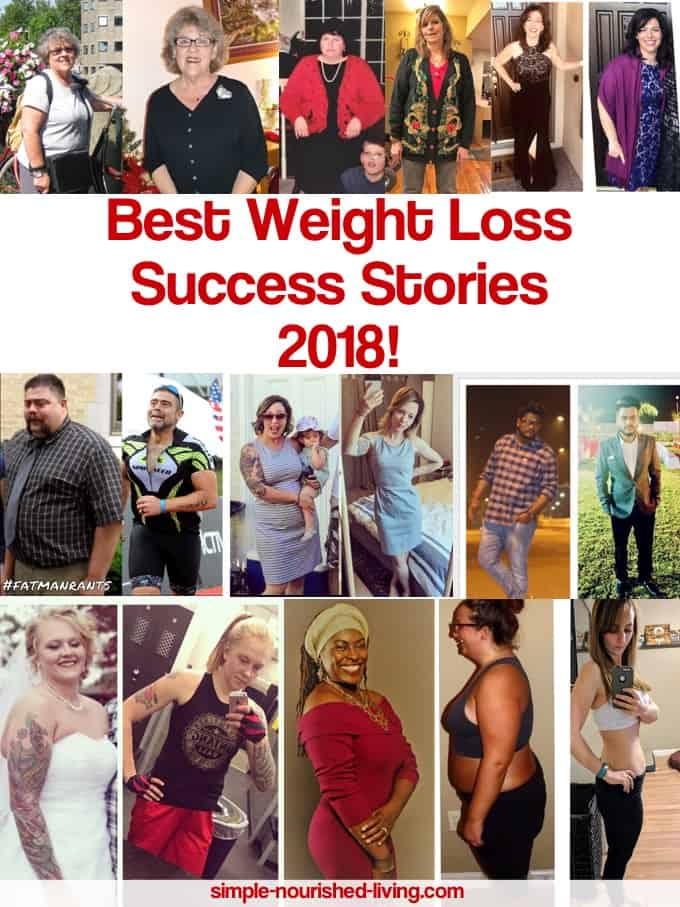 Best Weight Loss Success Stories of 2018 from Simple-Nourished-Living.com