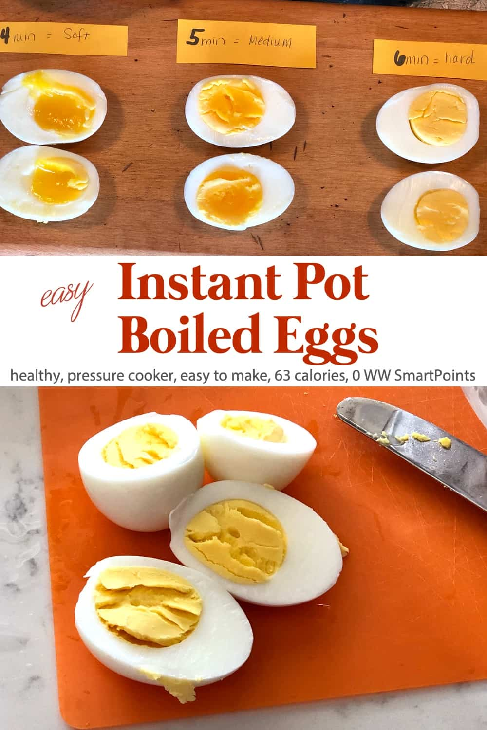 If you are an egg lover, give Instant Pot pressure cooker boiled eggs a try. With a pressure cooker, here is how to achieve the perfect hard boiled egg time after time! #instantpotboiledeggs #instantpoteggs #pressurecookereggs #eggs #ww #wwfamily
