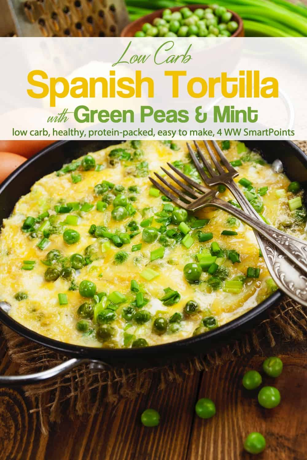Plain non-fat Icelandic style yogurt is a good addition to this Low Carb Spanish tortilla/omelet as it adds a lot of richness without guilt. Serve with a small green salad with a complete lunch or light dinner! #spanishtortilla #spanishomelet #omelet #omelette #eggs #easyhealthyrecipes