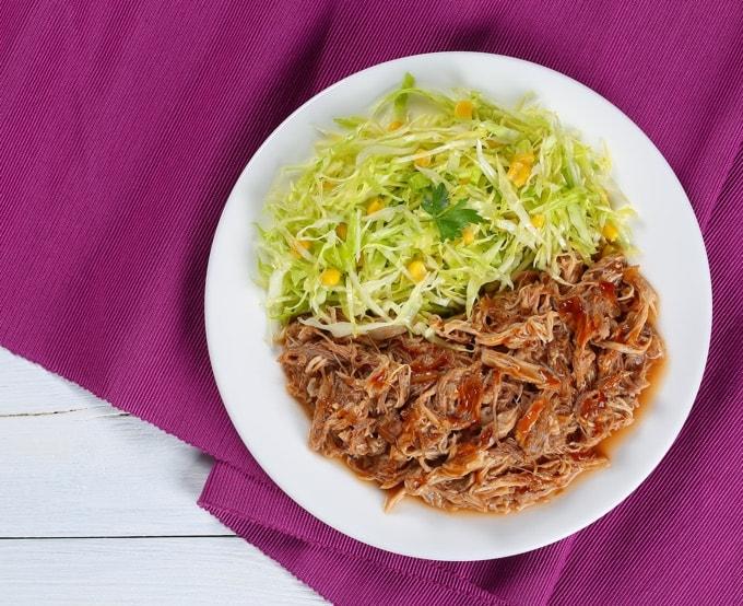 Turkey Leg Confit/Carnitas with shredded green salad