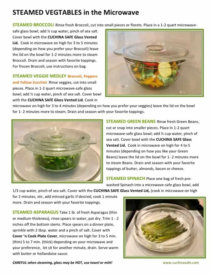 Microwave Steamed Veggie Recipes