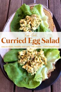 Curried Egg Salad sandwich lettuce wraps on Butter lettuce.