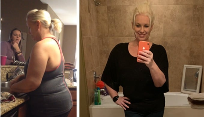 Shelly E. weight loss before and after photo from Kurbo by WW.