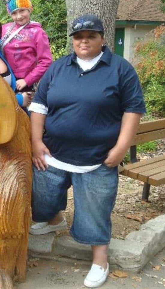 Denice before starting her weight loss journey