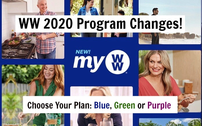 myWW 2020 Green, Blue and Purple Program Changes photo collage