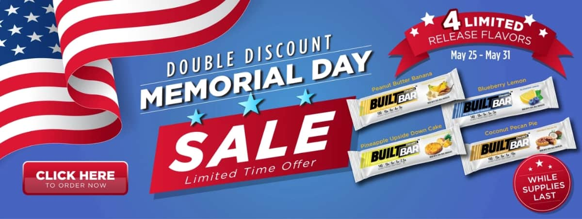 Built Bar Memorial Day Savings with Four New Limited Release Flavors