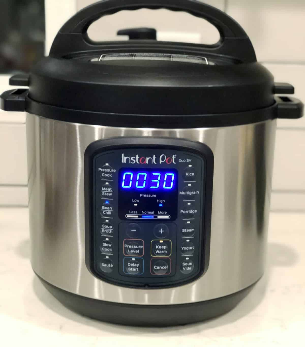 Cooking pinto beans for 30 minutes on HIGH pressure in InstantPot
