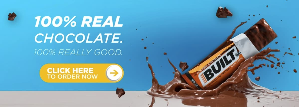 Real Chocolate Built Bars Banner
