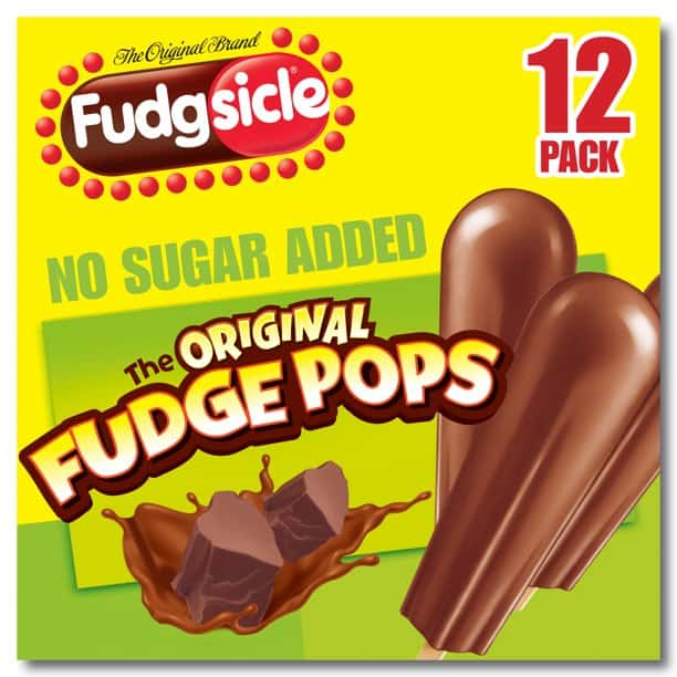 Package of Fudgsicle original fudge pops