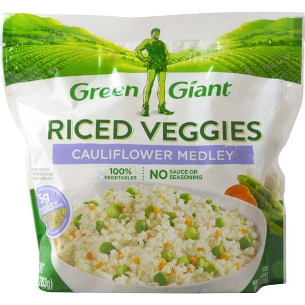 Package of Green Giant cauliflower medley riced veggies