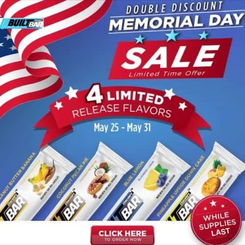 Built Bar Memorial Day Discount with 4 New Limited Release Flavors