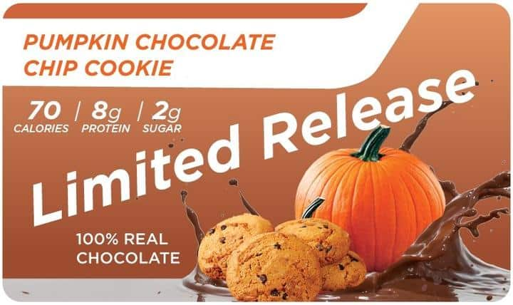 New Built Bites Pumpkin Chocolate Chip Cookie Available for a Limited Time!