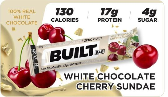 Built Bar - White Chocolate Cherry Sundae Limited Release