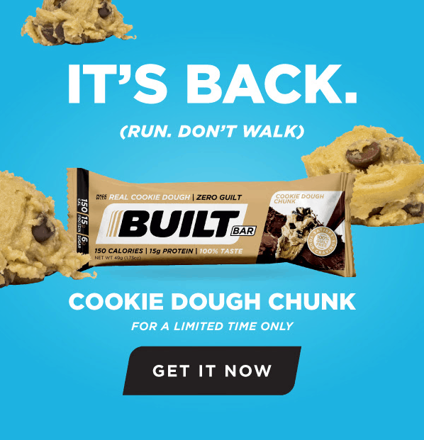 Cookie Dough Chunk BuiltBar available for a limited time