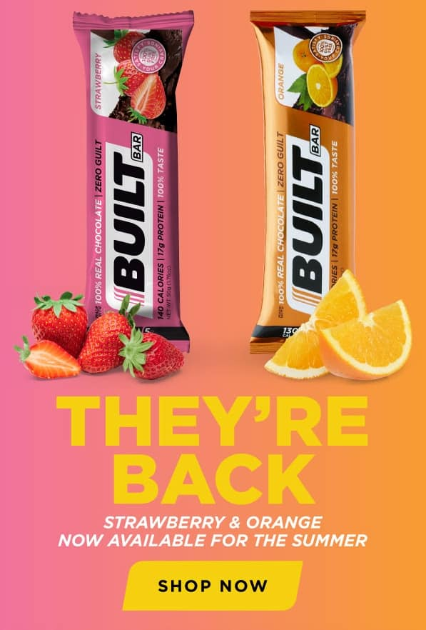 Built Bar Strawberry and Orange available for the summer!