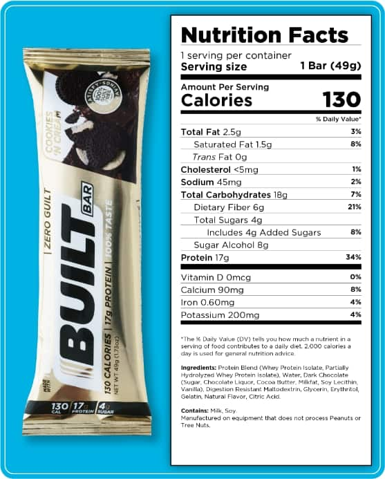Built Bar Cookies and Cream available now!